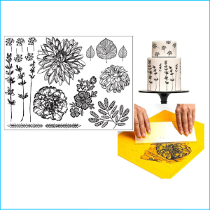 Silho Mould Mat Hand Drawn Florals
