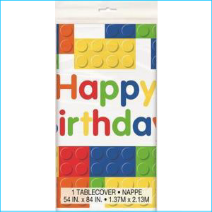 Building Blocks Party Tablecover Pk 1