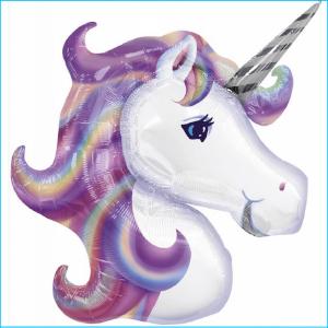 Unicorn Head Pastel Foil Super 83cm