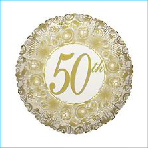 50th Anniversary Foil Balloon 45cm