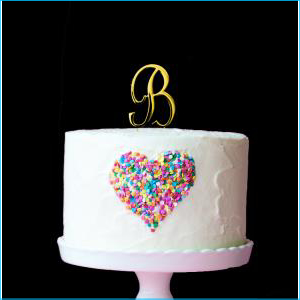 Gold Cake Topper 7cm B