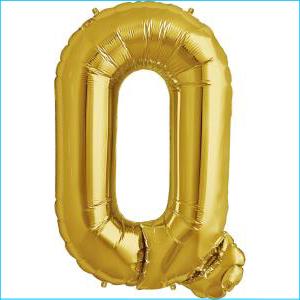 Foil Balloon 35cm Gold Q