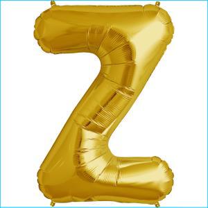 Foil Balloon 35cm Gold Z