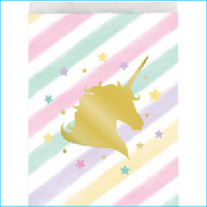 Golden Unicorn Party Loot Bags Pk 10