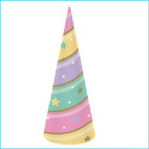 Golden Unicorn Party Horn Hats Pk 8