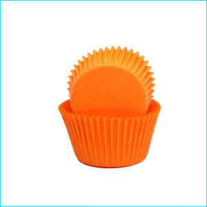 Orange Mini (360) Patty Pans Approx 50