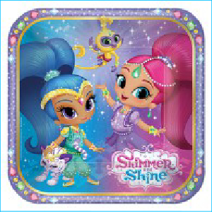 Shimmer and Shine Luncheon Plates Pk 8