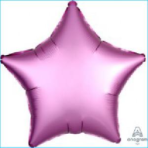 Satin Luxe Light Pink Star 45cm