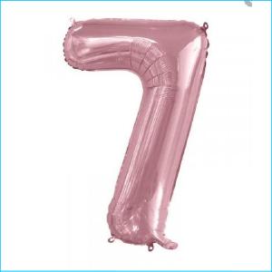 Foil 86cm Light Pink Number 7 Meteor