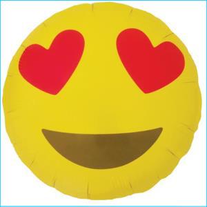 Emoji Foil Heart Eyes 45cm