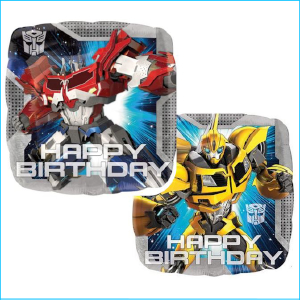 Foil Transformers Happy Birthday 43cm