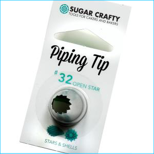 SC Piping Tip 32 Open Star / Shell