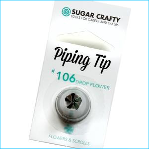 SC Piping Tip 106 Drop Flower