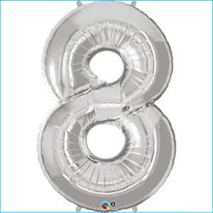 Foil Balloon 35cm Silver 8
