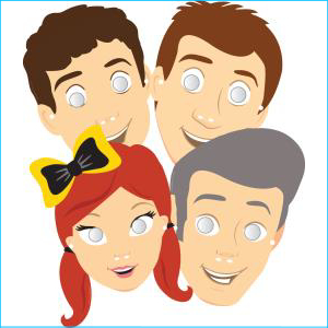 The Wiggles Assorted Masks Pk 8