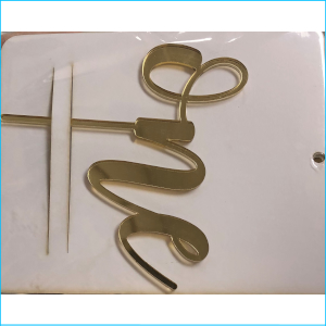 Gold One Acrylic Topper