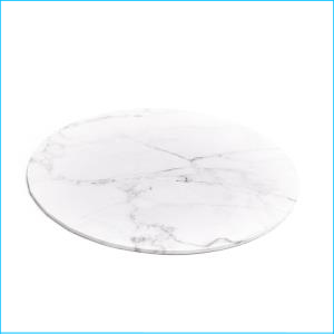 Cake Board White Marble Look 12''