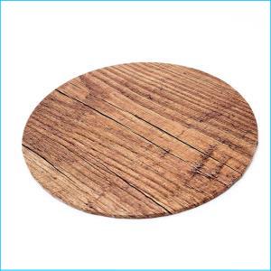 Cake Board Wood Grain Round 12''