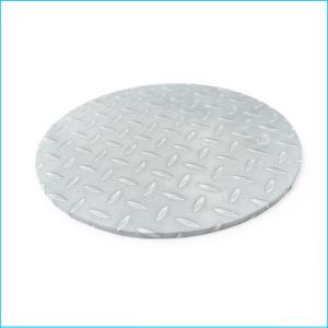"""Cake Board Checker Plate Round 12"""""""
