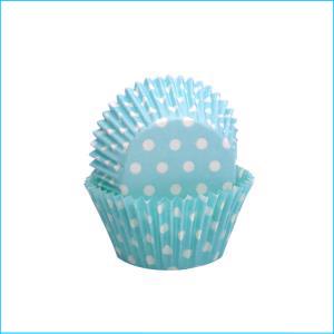 Blue/White Polka Dot Medium Patty Pan