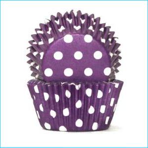 Purple/White Polka Dot Large Patty Pan P