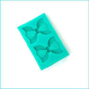 Silicone Mould Bows Pearl Textured