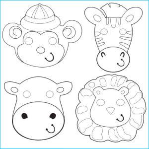 Safari Animal Colour Your Own Masks PK12