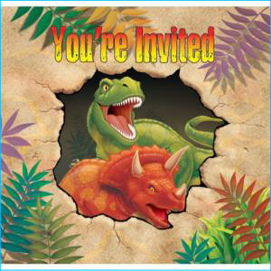 Dino Blast Invitations PK8