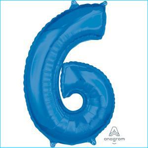 Number 6 Blue Mid Size 66cm