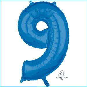 Number 9 Blue Mid Size 66cm