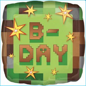 Foil 45cm TNT Minecraft B-Day