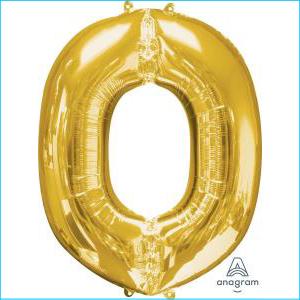 Anagram Letter N GOLD Foil Balloon 83cm