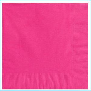 Bright Pink Beverage Napkin pk20