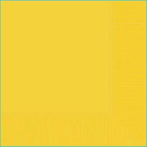 Yellow Lunch Napkin pk20