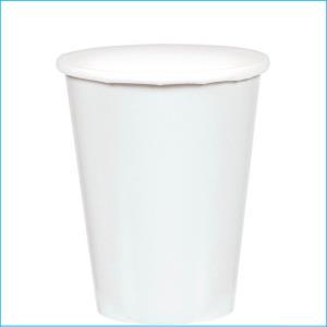 White Paper Cups pk25