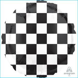 Checker Flag 45cm Foil Balloon