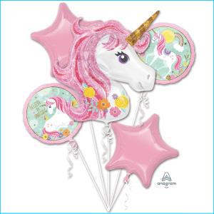 Magical Unicorn Foil Balloon Bouquet 5Pk