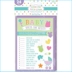 Baby Shower Guess The Price 24 Sheets