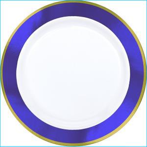 "PurpleGold 10"" Plastic Plates 10Pk"