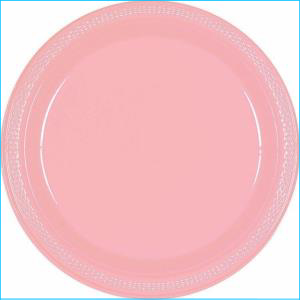 New Pink Paper Plate 9inch pk20
