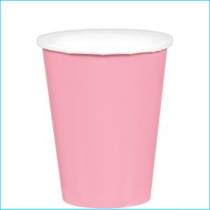 New Pink Paper Cups pk20