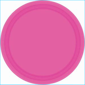 Bright Pink Paper Plate 7in pk20