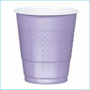 Lavender Plastic Cups pk20
