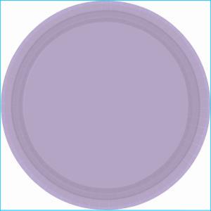 Lavender Plastic Plates 17.7cm pk20