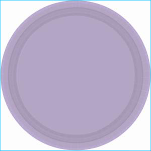 Lavender Plastic Plates 22.9cm pk20