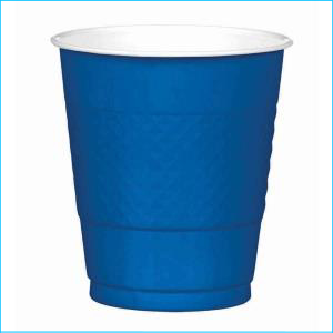Royal Blue Plastic Cup pk20