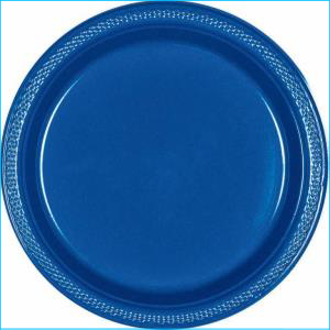 Royal Blue Paper Plate 7in pk20
