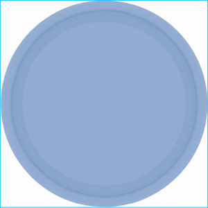 Pastel Blue Paper Plates 9in pk20