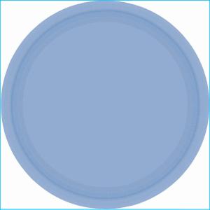 Pastel Blue Plastic Plate 22.9cm pk20