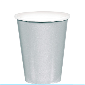 Silver Paper Cups pk20